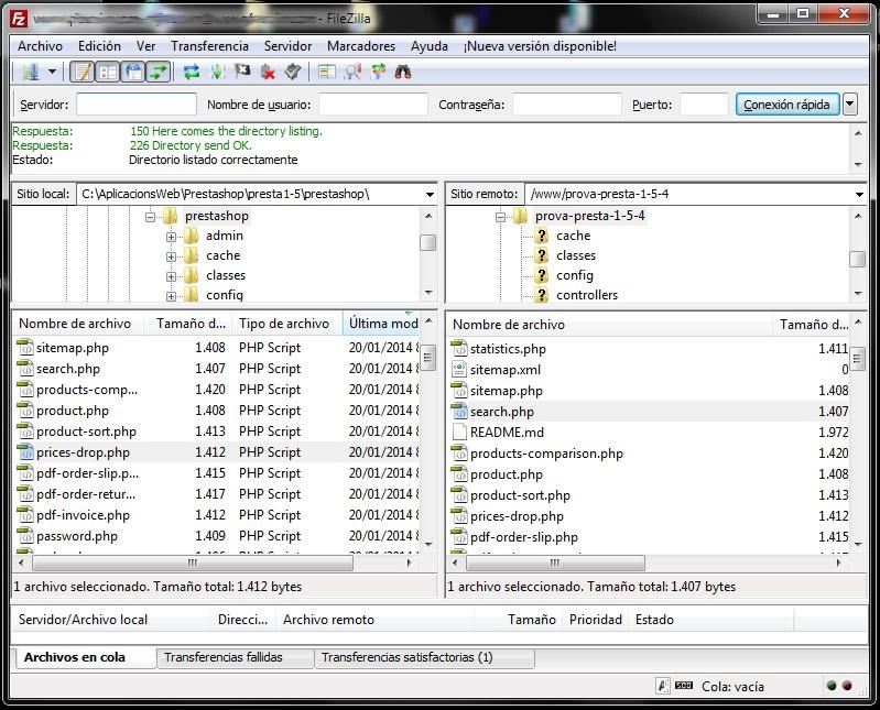 software para tienda virtual filezilla - para subir archivos a la tienda virtual